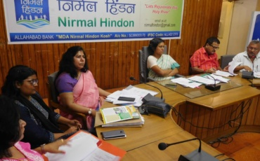 Meeting with DC for the preparation of Hindon River Rejuvenation