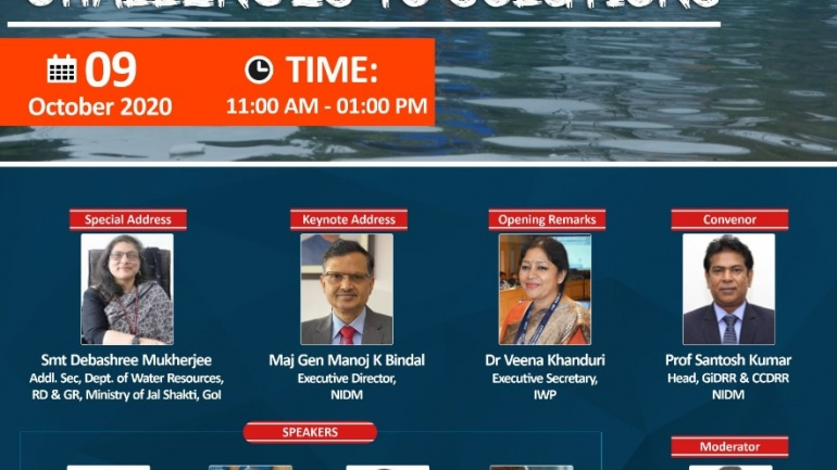 """Webinar On """"Urban Flooding: Challenges to Solutions"""""""