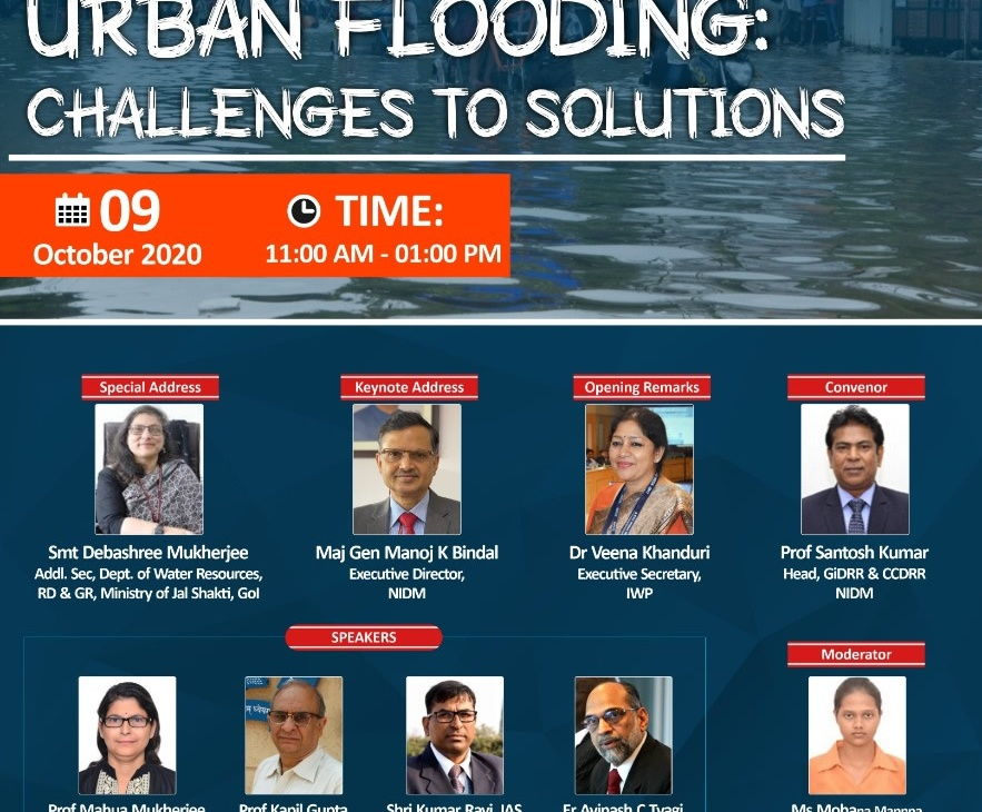 "Webinar On ""Urban Flooding: Challenges to Solutions"""